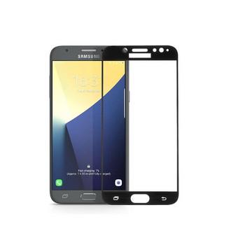 Заоблен стъклен протектор 3D Full Cover за Samsung Galaxy S6 Edge Plus, Черен