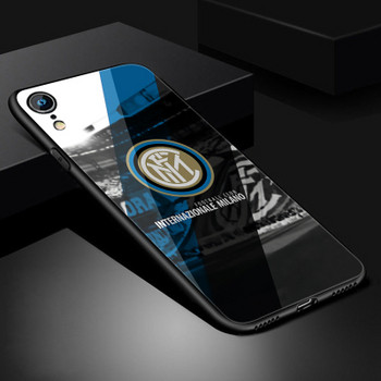 Силиконов калъф за Iphone XR с надпис KEEP CALM and FORZA INTER -  два модела