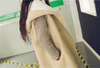 Модерно дамско палто с мека подплата и копче в три цвята
