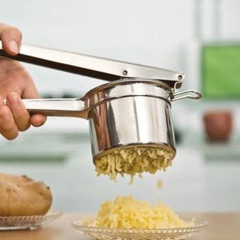 Кухненски уред от неръждаема стомана за пресоване на зеленчуци и плодове