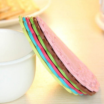 Комплект от десет броя силиконови подложки за чаши с дизайн на цвете