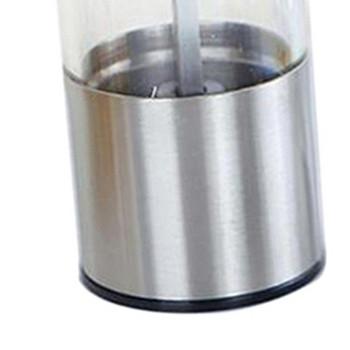 Ръчна мелница от неръждаема стомана за сол и пипер в сребрист цвят