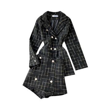 Нов модел дамски комплект от две части в черен и бял цвят