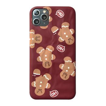 Калъф за Iphone 11 Pro  с коледен мотив в цвят бордо