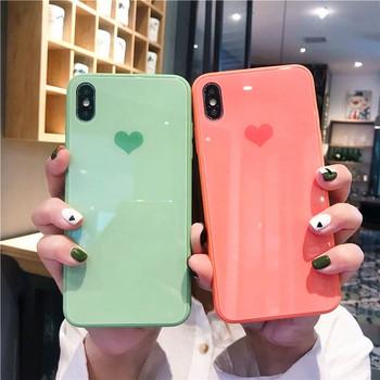Силиконов калъф със сърце за  Iphone X/XS и Iphone XS Max
