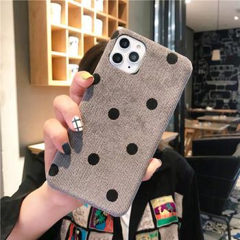 Нов модел калъф на точки в бежов и сив цвят за Iphone 11 Pro Max