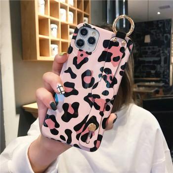 НОВ калъф за Iphone 11 Pro Max с леопардов принт + държач
