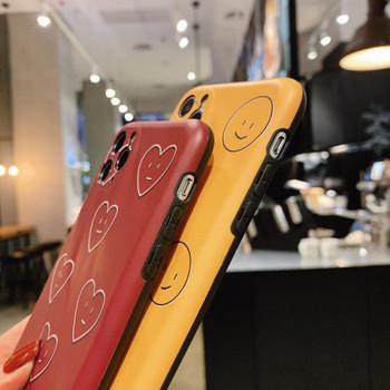 Калъф за Iphone 11 Pro Max в бордо и горчица цвят - два модела