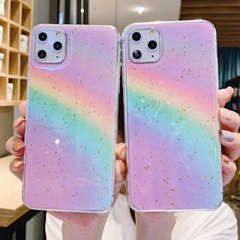 Силиконов цветен калъф с дъга за Iphone 11 Pro Max