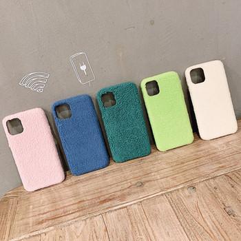 Едноцветен твърд пухен гръб за Iphone 11 Pro Max в пет цвята