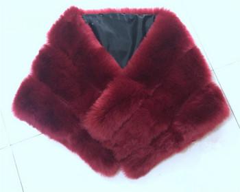 Дамски актуален пухен шал в няколко различни цвята