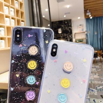 Силиконов прозрачен калъф за  Iphone  X/XS  с четири усмихнати лица