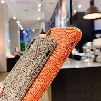 Плюшен твърд гръб за  Iphone  XS Max в кафяв,оранжев,син и бежов цвят