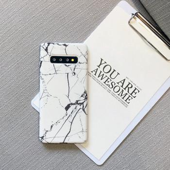 НОВ Модел калъф с мраморен ефект в бял и черен цвят за Samsung s10