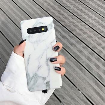 НОВ Твърд калъф с мраморен ефект за Samsung s10  в сив и бял цвят