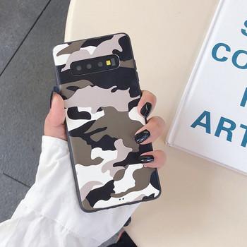 Калъф за Samsung S10+ с камуфлажен десен в кафяв и сив цвят