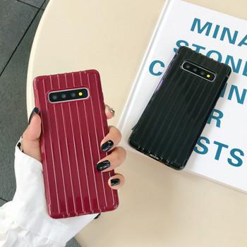 Калъф за Samsung S10+ в черен и бордо цвят