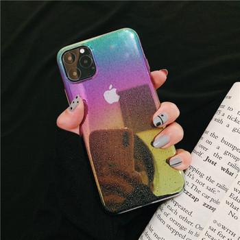 Силиконов калъф в преливащи се цветове за Iphone 11 Pro Max - два модела