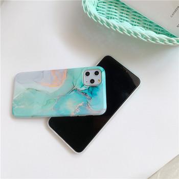 Калъф за Iphone 11 Pro Max  с мраморен ефект в зелен цвят