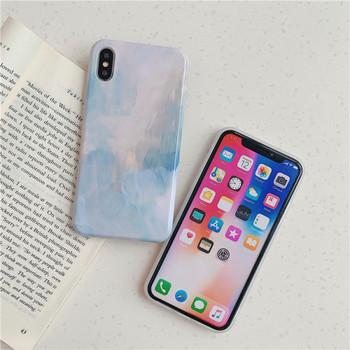 Калъф за  Iphone X/XS + пръстен в розов и син цвят