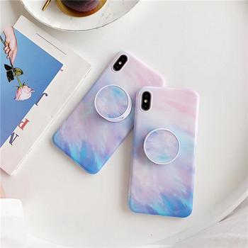 Многоцветен силиконов калъф + пръстен за  Iphone X/XS