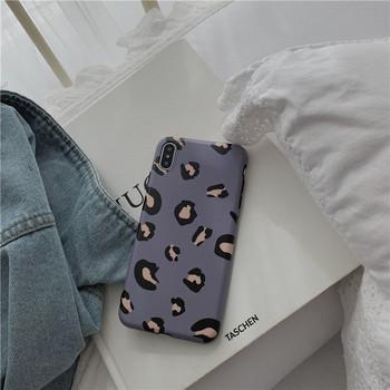 Калъф за  Iphone X/XS с леопардов десен в розов и син цвят
