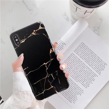 Калъф за Iphone X/XS с мраморен ефект в бял и черен цвят