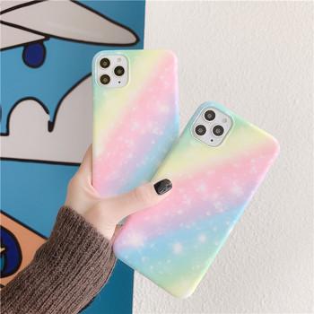 Многоцветен силиконов калъф за Iphone 11 Pro Max