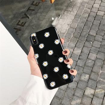 Черен калъф на цветя за Iphone X/XS