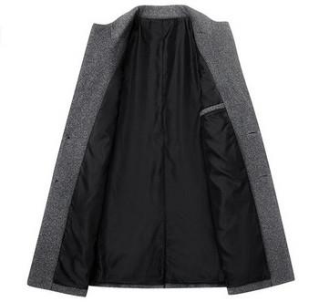 Μοντέρνο ανδρικό παλτό με κουμπιά σε γκρι, μαύρο και μπορντό χρώμα