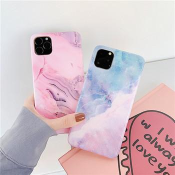 Калъф с мраморен ефект и преливащи се цветове за Iphone 11 Pro Max - два модела