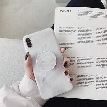 Силиконов калъф с пръстен в бял цвят за Iphone X/XS