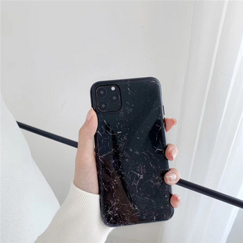 Силиконов калъф с мраморен ефект в бял и черен цвят за Iphone 11 Pro Max