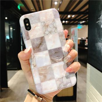 НОВ Модел силиконов калъф с мраморен ефект за Iphone X/XS