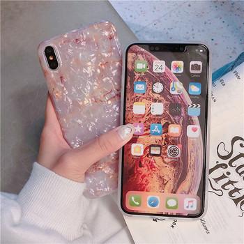 Калъф за  Iphone X/XS с мраморен и лъскав ефект - два модела