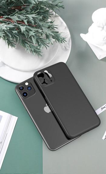 Силиконов калъф за  Iphone 11 Pro в зелен,черен и бял цвят