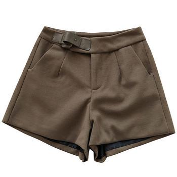 Ежедневен дамски панталон в четири цвята с висока талия и джобове