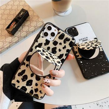 НОВО Калъф за Iphone 11 Pro Max  с огледало и леопардов десен - два модела