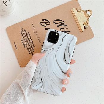 Калъф с мраморен ефект за Iphone 11 Pro Max в бял и черен цвят