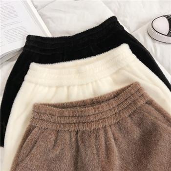 Къси дамски панталони с джобове в бял,черен и кафяв цвят