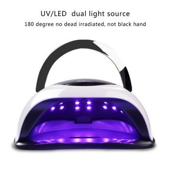 Επαγγελματική λάμπα UV / LED 120W με οθόνη LCD και χρονοδιακόπτη αφής 10c, 30c, 60c, 99c