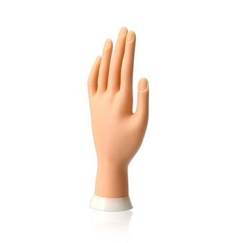Подвижна и мека тренировъчна ръка за маникюр с огъващи се пръсти
