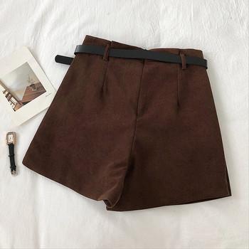 Модерна дамска пола-панталон в три цвята с колан и висока талия
