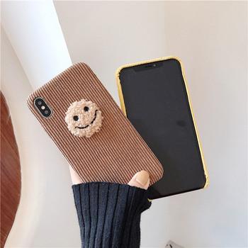 Твърд гръб за Iphone X/XS с 3D елемент в кафяв и жълт цвят