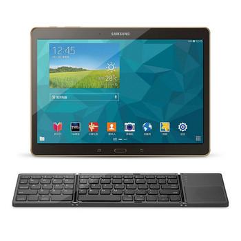 Qianye Сгъваема Bluetooth клавиатура безжична и ултратънка в черен и сив цвят
