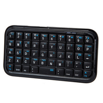 Малка Bluetooth клавиатура лесно преносима, съвместима с IOS, Android и Windows в черен цвят