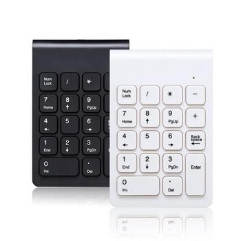 Безжична цифрова мини клавиатура лесно преносима в черен и бял цвят