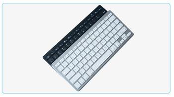Безжична Bluetooth клавиатура с тънък дизайн и 78 клавиша в черен и бял цвят