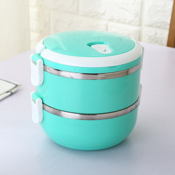 Практична двойна кутия за храна от неръждаема стомана в различни цветове