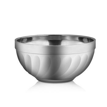 Купа от неръждаема стомана с антидраскаща се повърхност и диаметър 15см в сив цвят